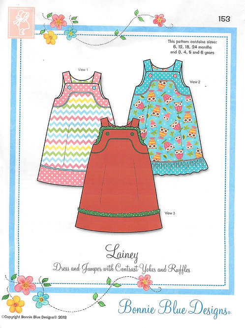 Lainey Girl's Jumper Sewing Pattern by Bonnie Blue Designs