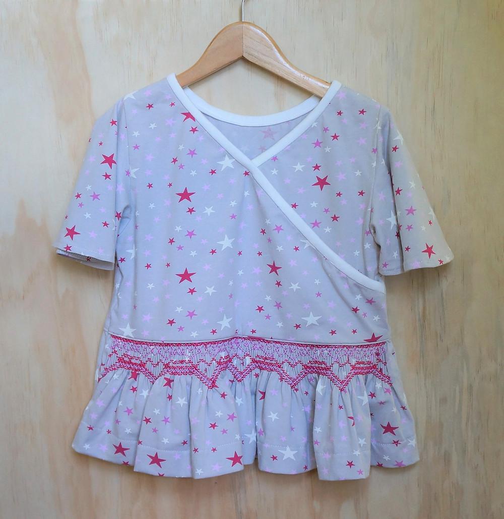 Flora Knit Smocked Top Sewing Pattern