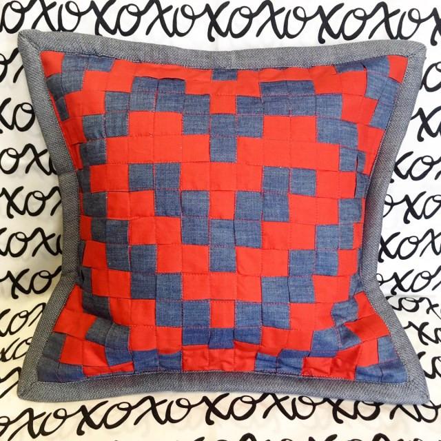 Woven Heart Pillow