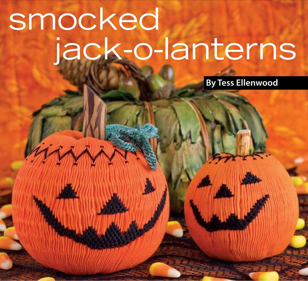 Smocked Jack-o-lanterns
