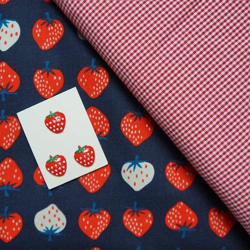 Strawberry July Flowers Gathered Skirt Kit