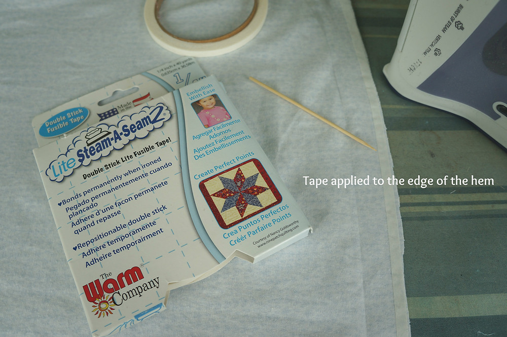 Apply fusible to edge of hem