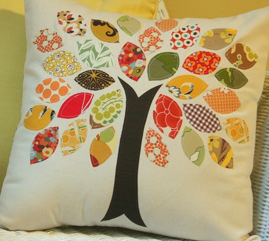 Fall Scrap Pillow