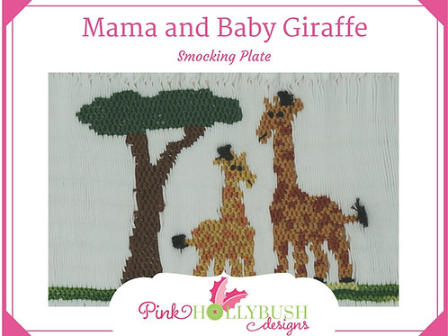 Mama and Baby Giraffe Smocking Plate