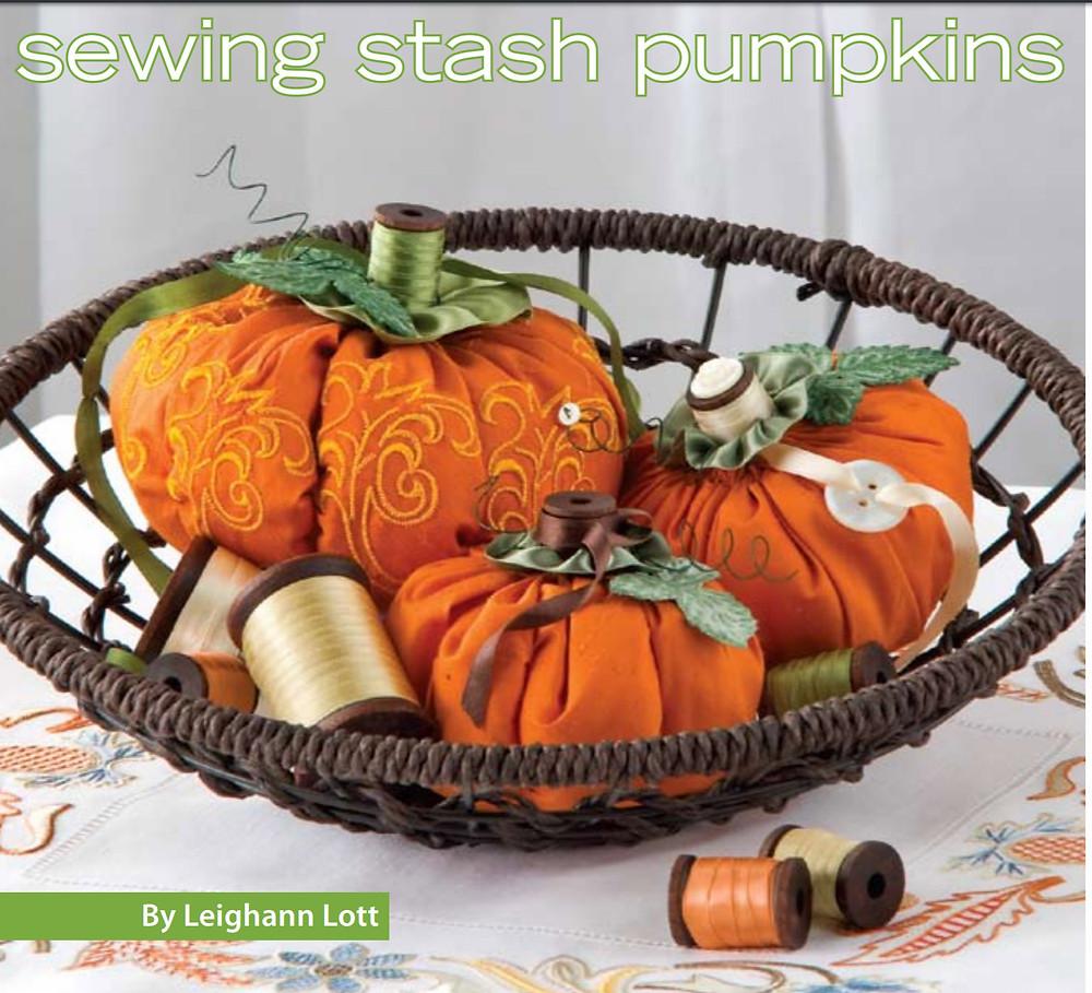 Stuffed Pumpkins to Sew