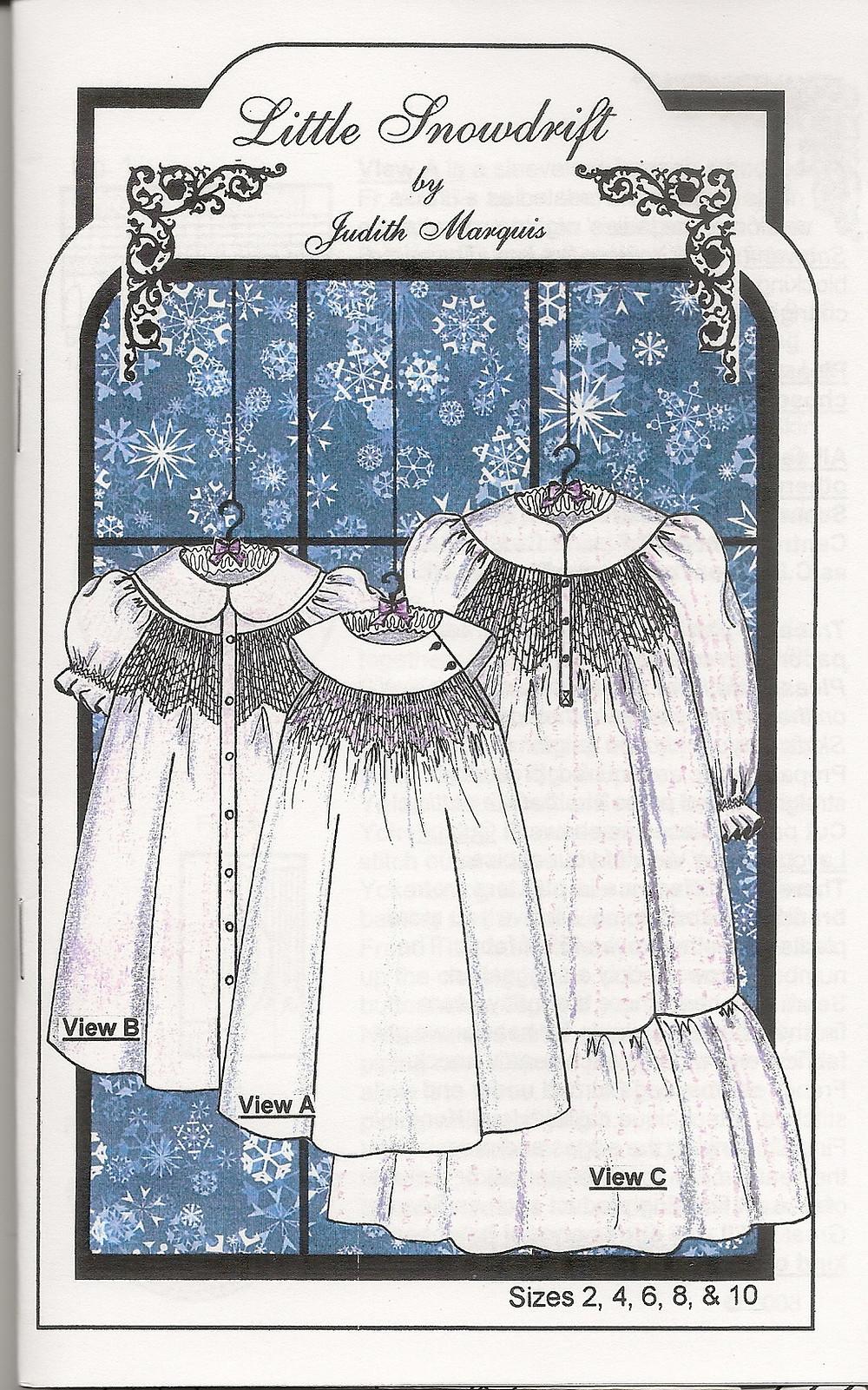 Little Snowdrift Nightgown Pattern
