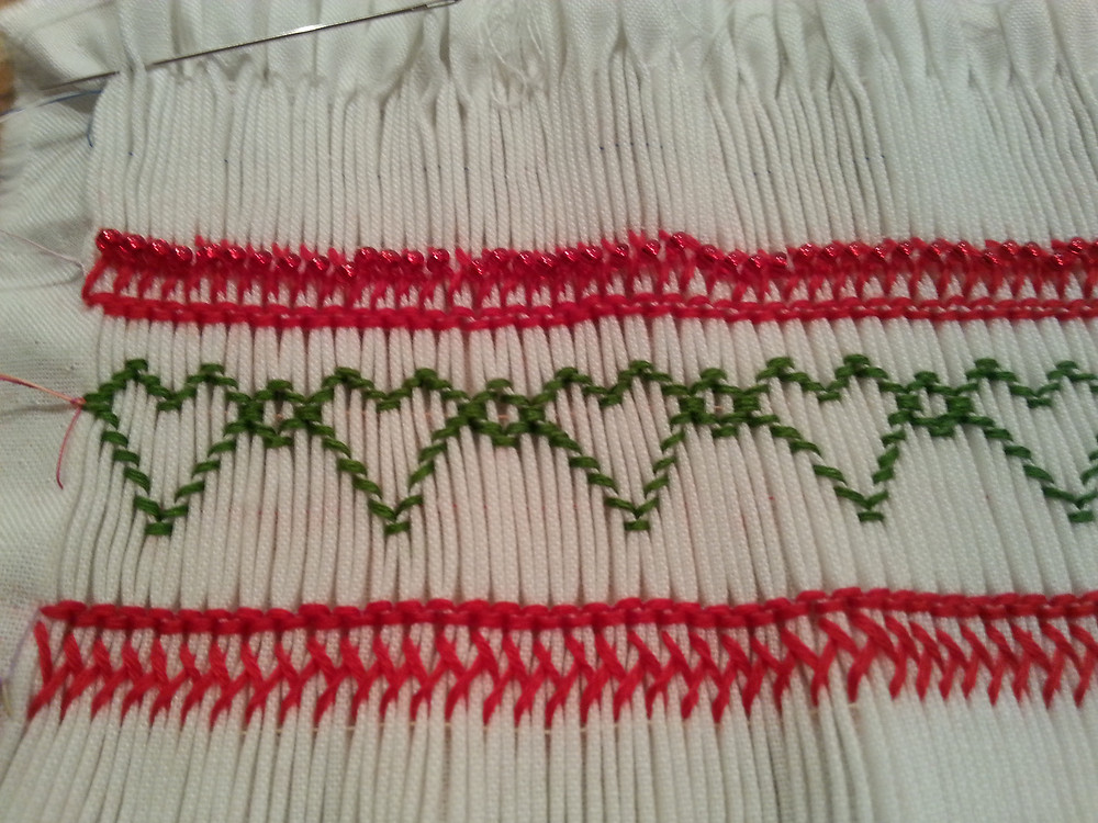 Finished Cretan Stitch