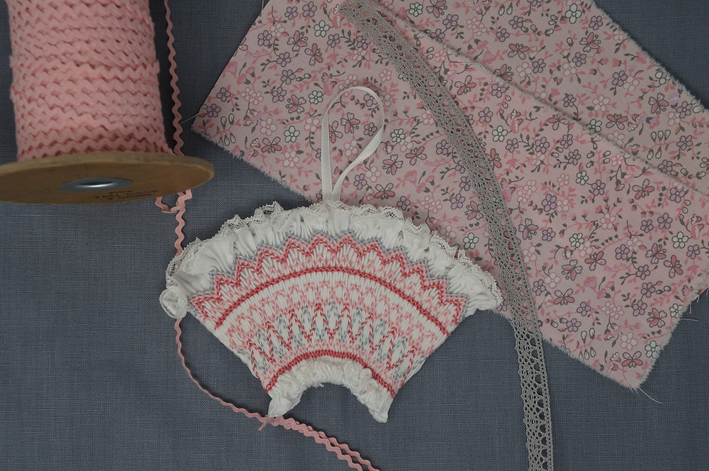 Pink and Gray Smocked Fan Kit