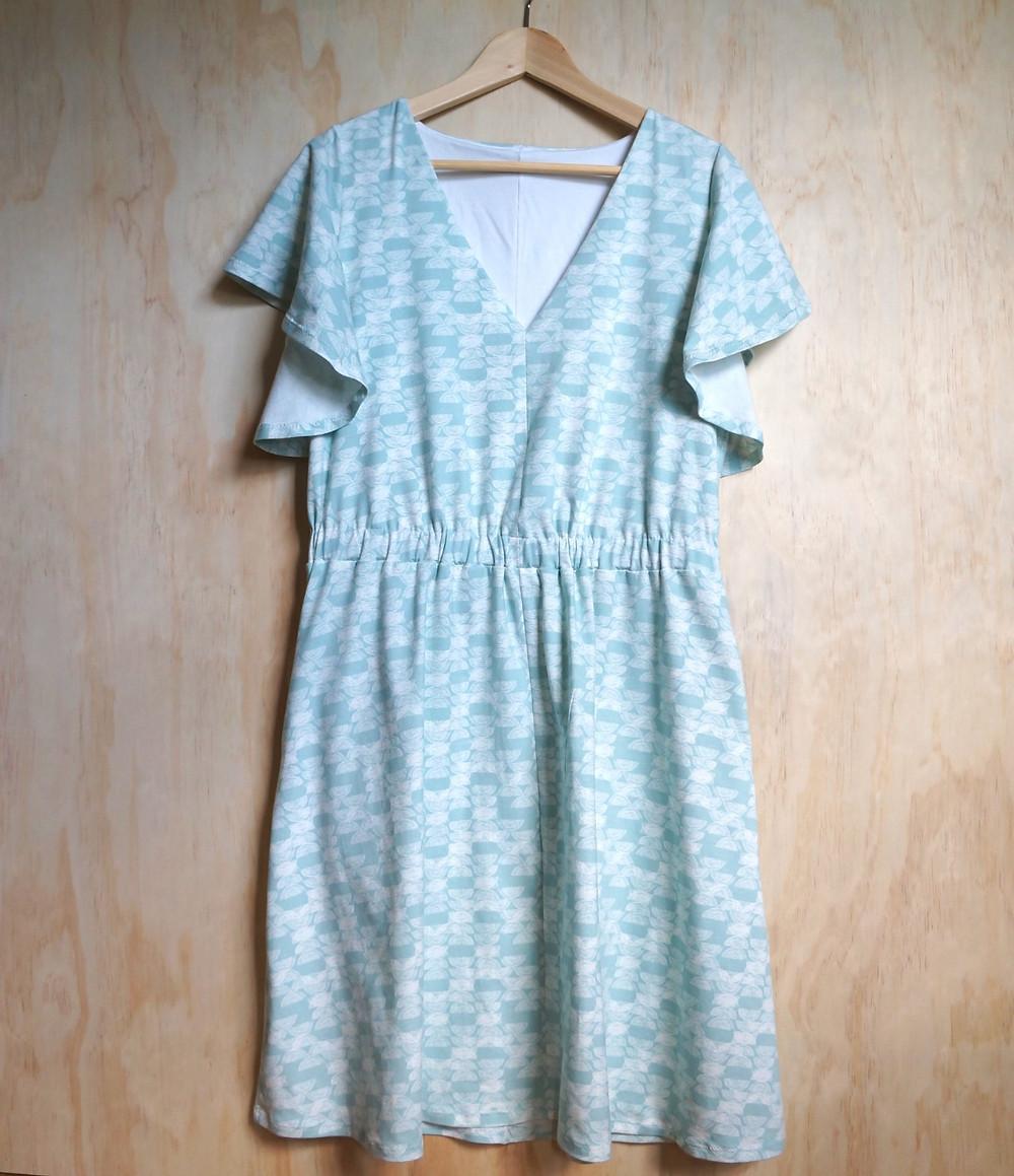 Seamwork Bobby Dress made from Haymow Art Gallery Knit Fabric