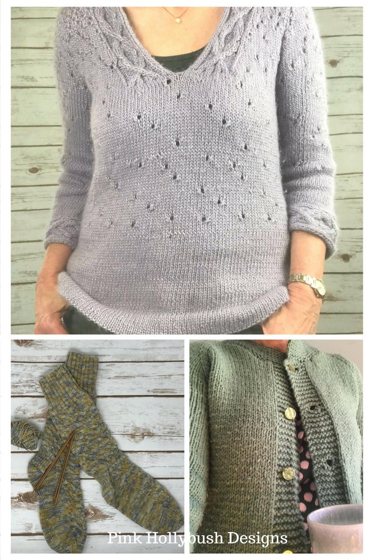 Finishing Up Some Knitting   Pink Hollybush Designs, Fabrics ...