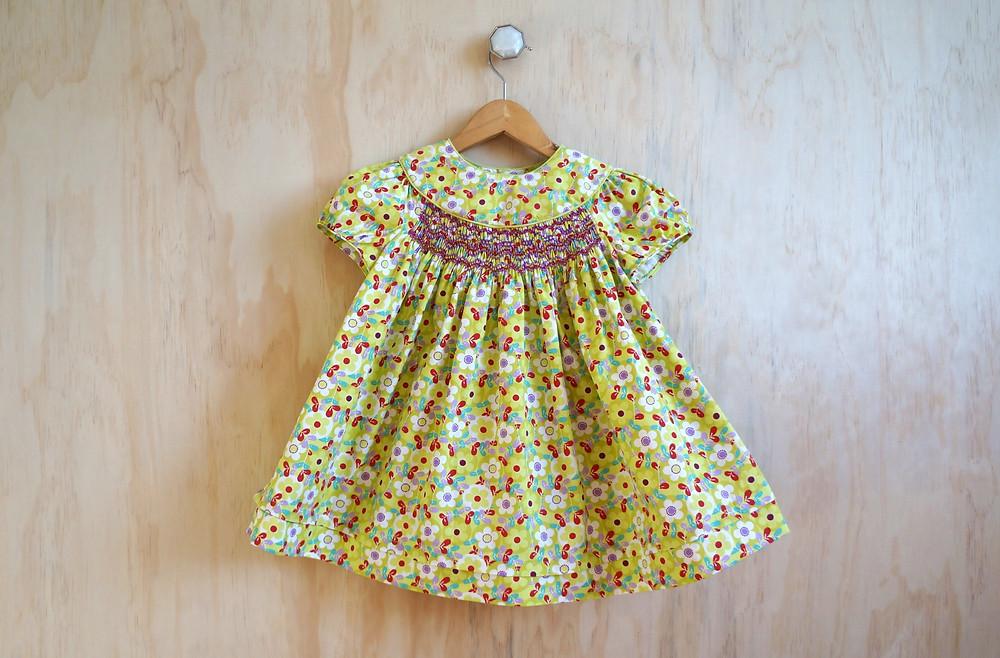 smocked infant snowdrift baby girl dress pattern
