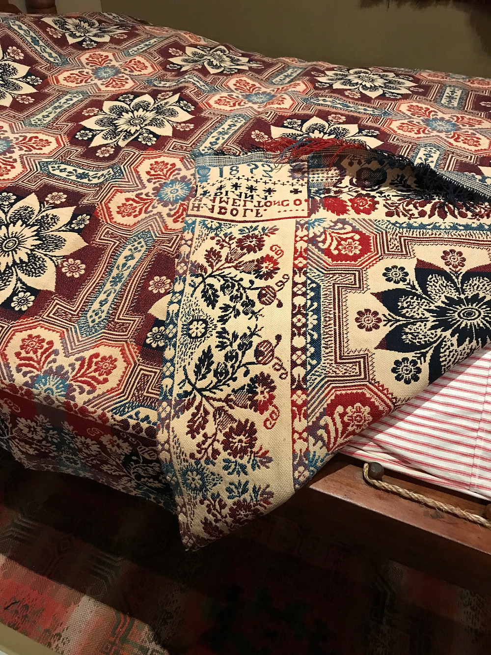 Coverlets were reversible on each side