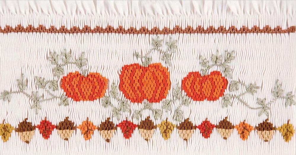 Pumpkin smocking plate from Martha Pullen