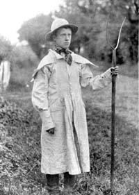 Boy in a smocked garment