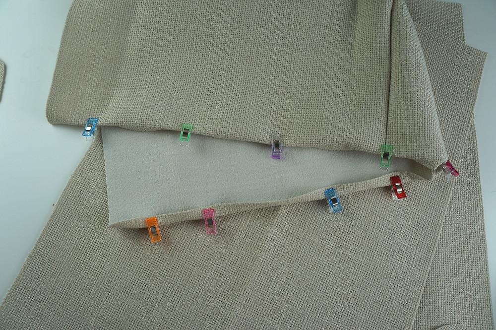 Long edged folded up