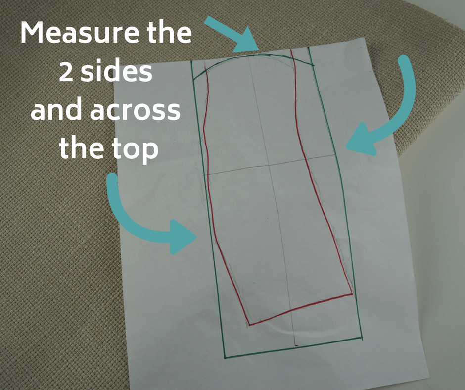 Measure the sides and across the top