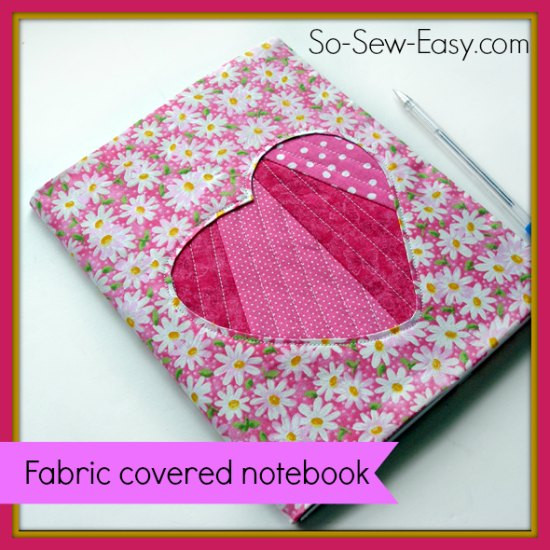 Heart Fabric covered notebook