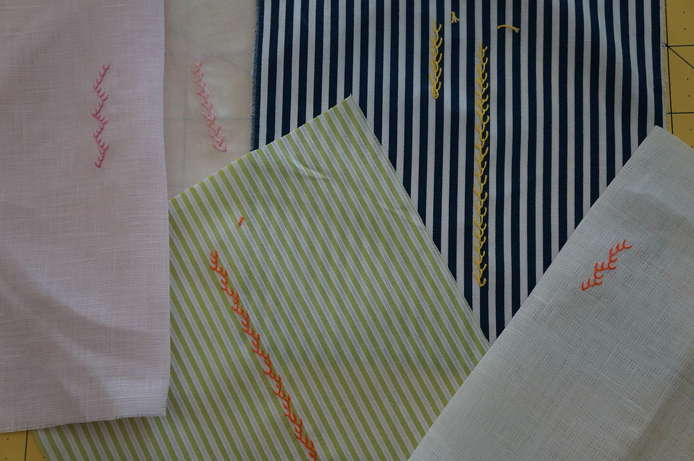 Examples of Feather Stitch