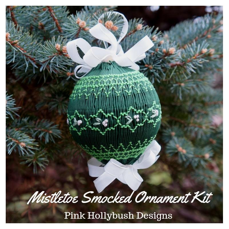 Mistletoe Ornament Smocking Pattern