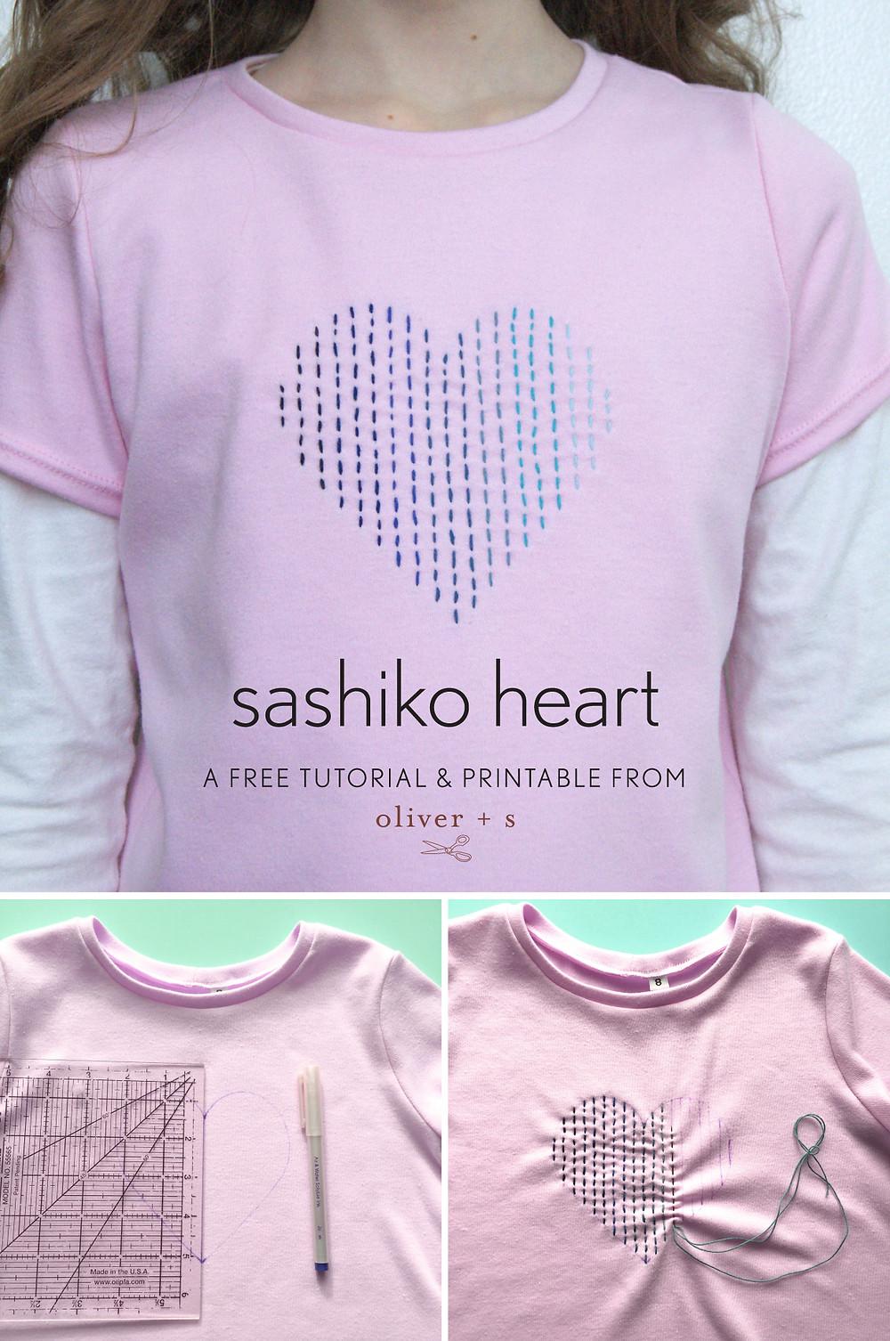 Sashiko Heart