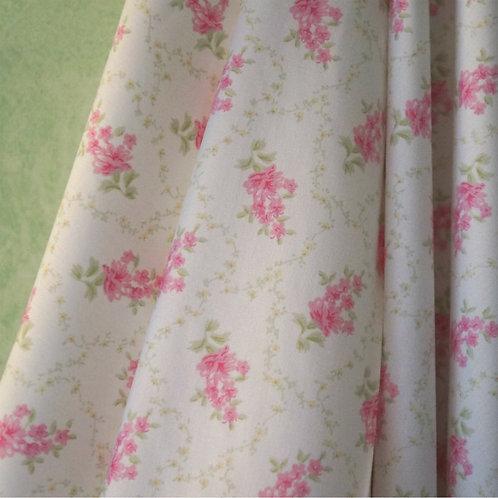 Pink Trellis Cotton Broadcloth