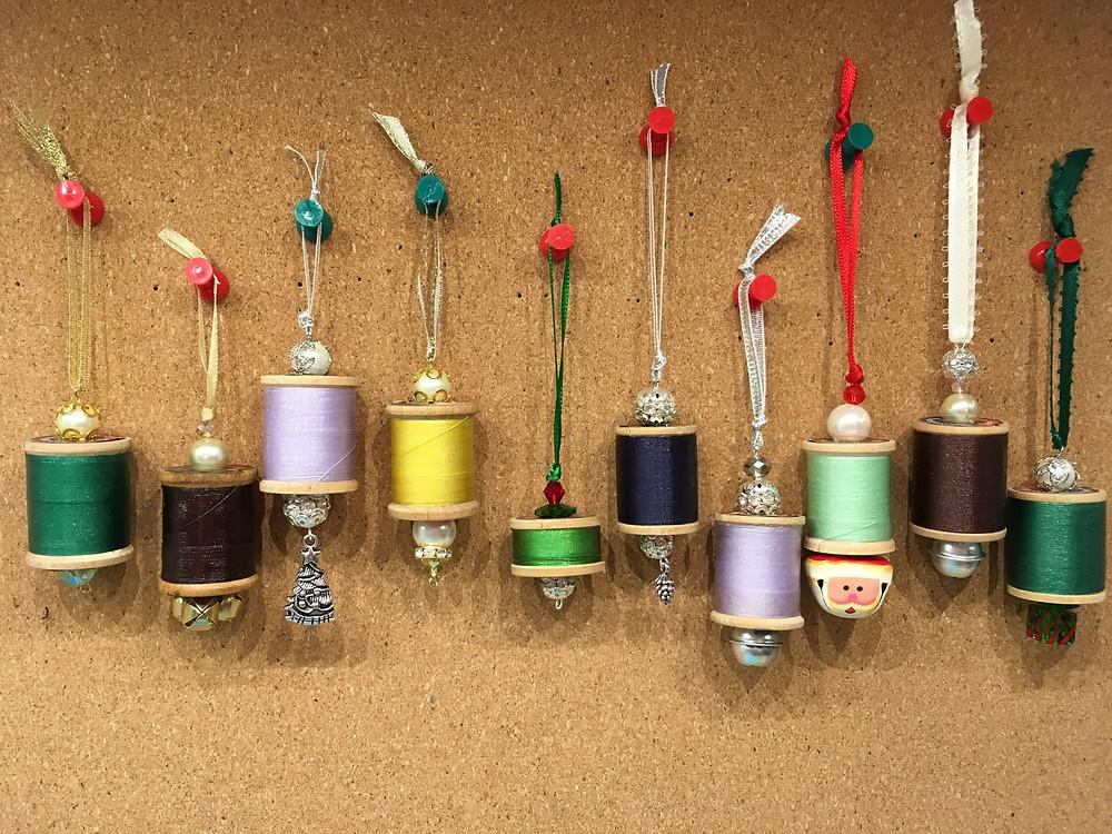 Finished Thread spool ornaments