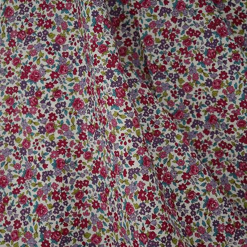 Raspberry Cotton Fleuri Lawn from Frou Frou