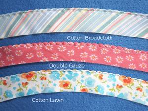 Scallop Edging on different types of fabric