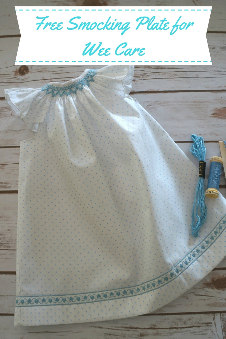Free Smocking Plate for Wee Care and Charitable Sewing