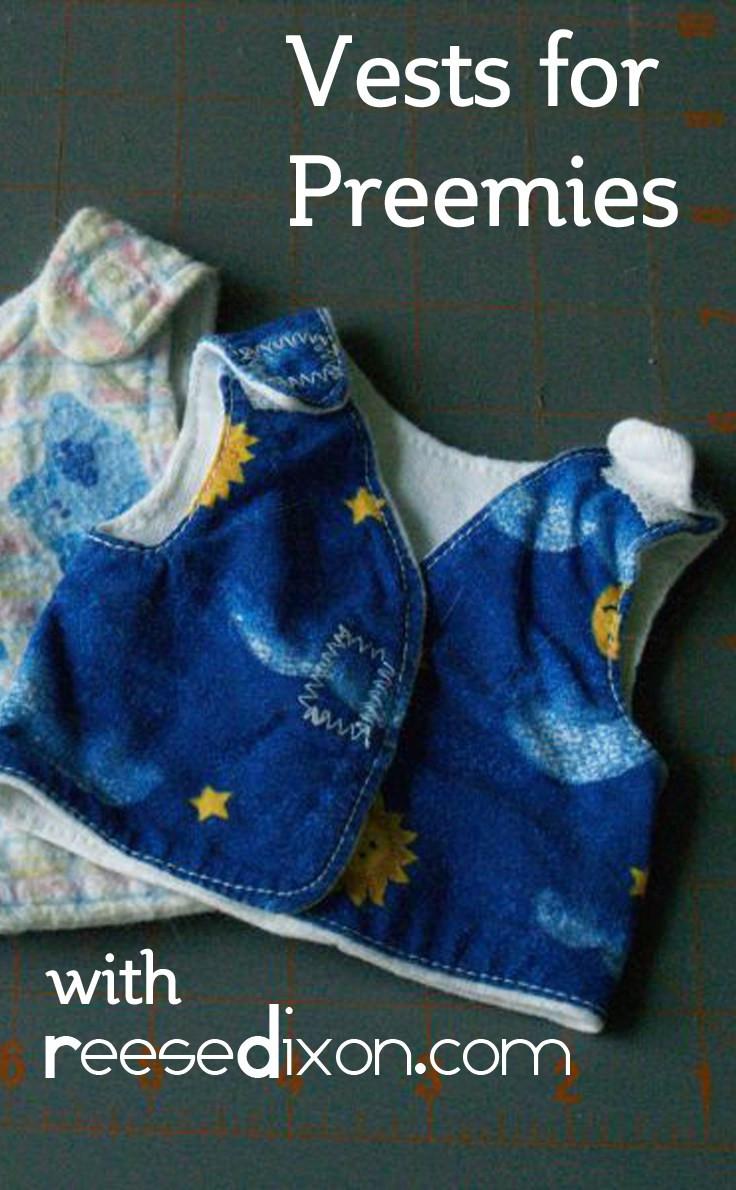 NICU Vest Sewing Pattern for Preemies