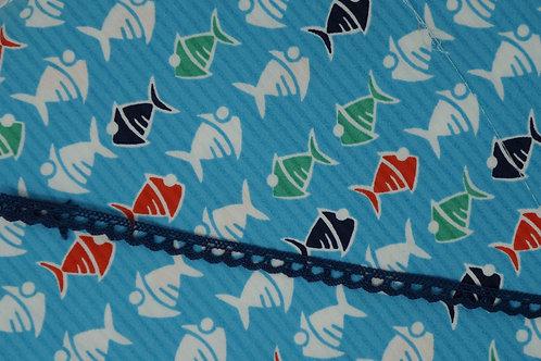Navy Blue Cotton Crochet Lace Trim