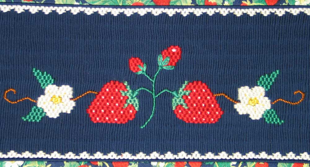 Strawberry Smocking Plate