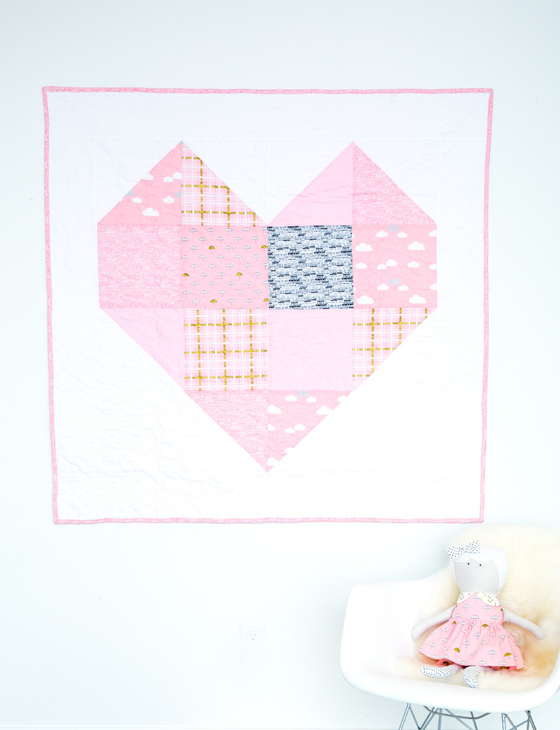 Baby Heart Quilt Pattern