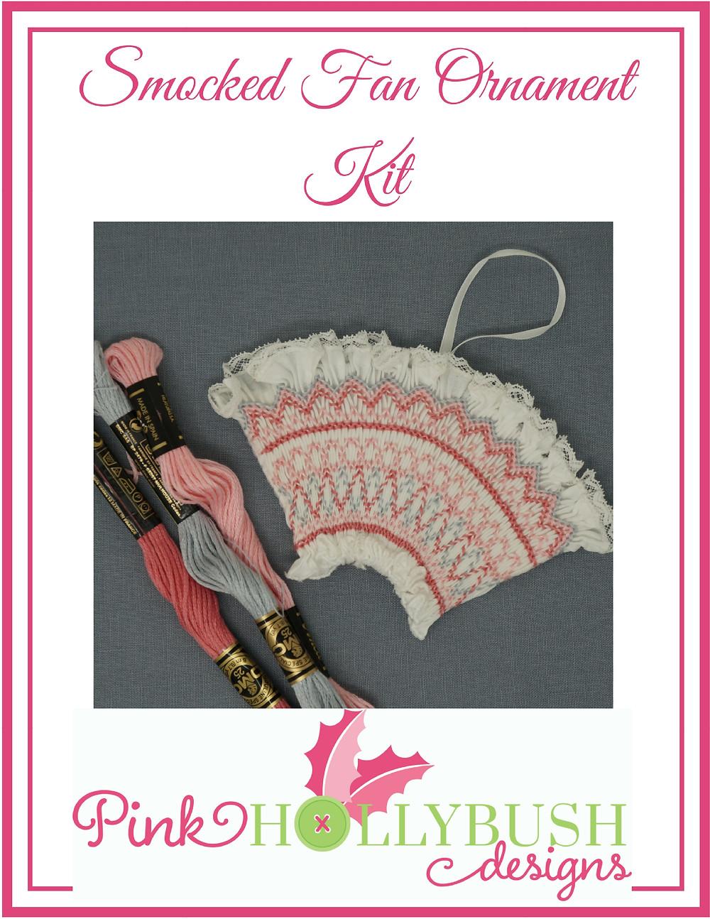 Smocked Fan Ornament Kit