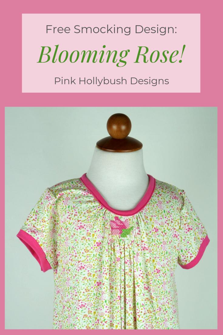 Blooming Rose Free Smocking Design