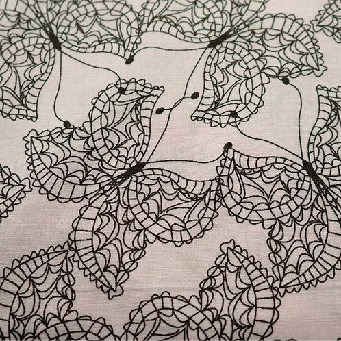 Black Butterflies Cotton Fabric by Art Gallery