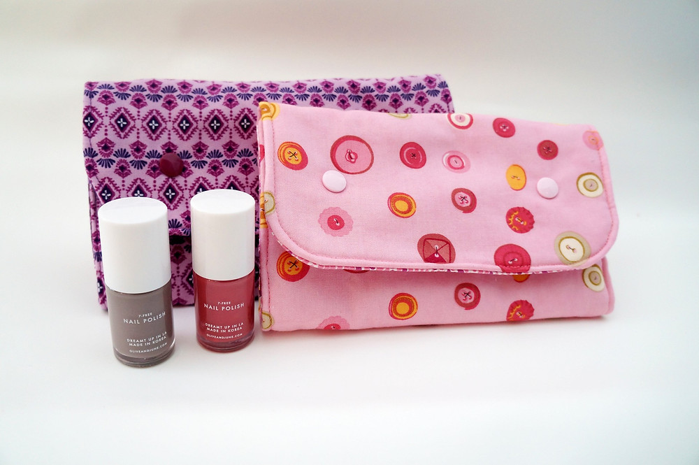 Manicure bag with Olive and June Nail Polish