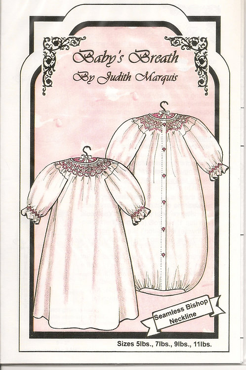 Baby's Breath Smocked Baby Bunting Sewing Pattern