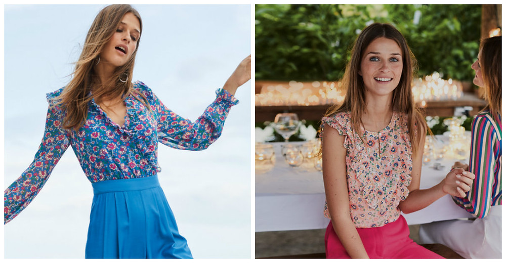Ruffled tops from Boden