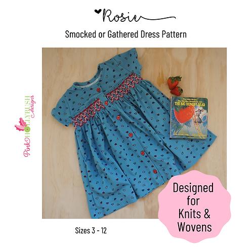 Rosie Dress Printed Pattern