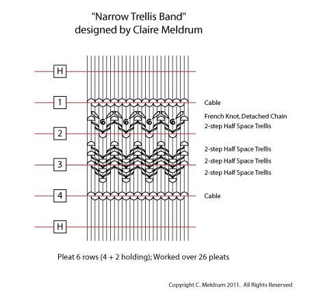 Narrow Trellis Smocking Design