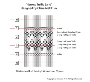 Narrow Trellis Smocking Design