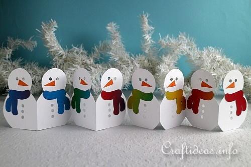 Snowman Paper Garland