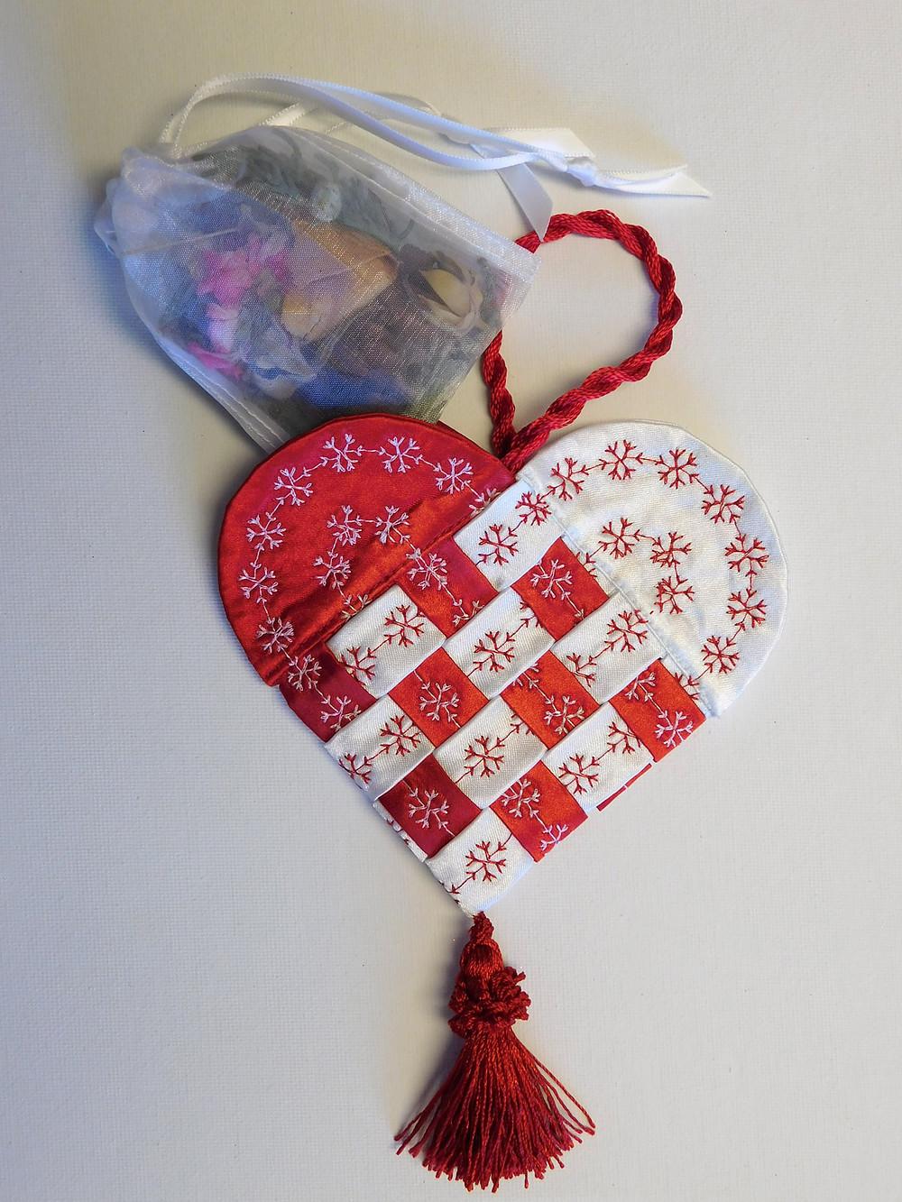 Scandinavian Fabric Hearts
