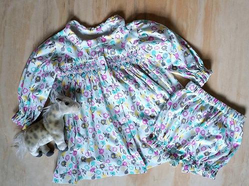 Rosebud Infant Knit Dress PDF Pattern