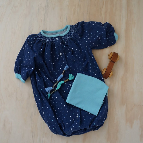 Starry Sky Baby's Breath Pre-Pleated Smocking Kit