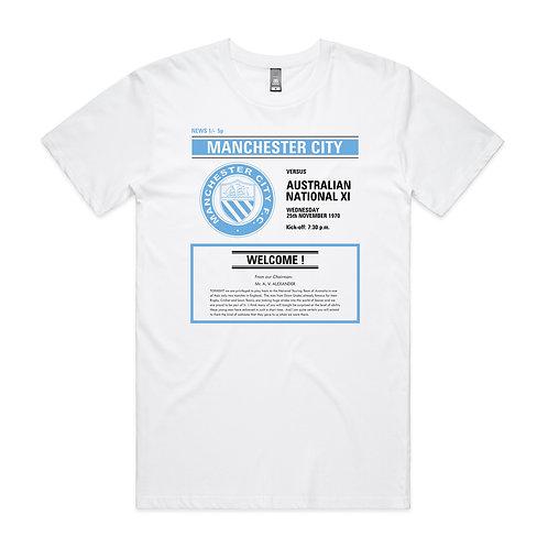 Manchester City v Australian National XI 1970 T-shirt