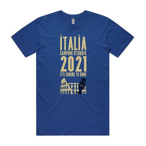 Italia Campioni d'Europa 2021 It's Coming To Rome T-shirt