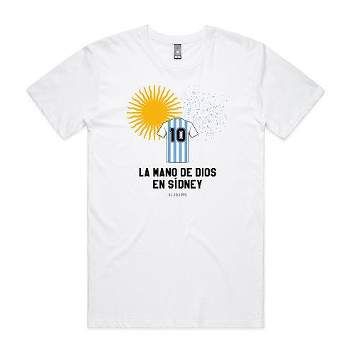 La mano de Dios en Sídney T-shirt