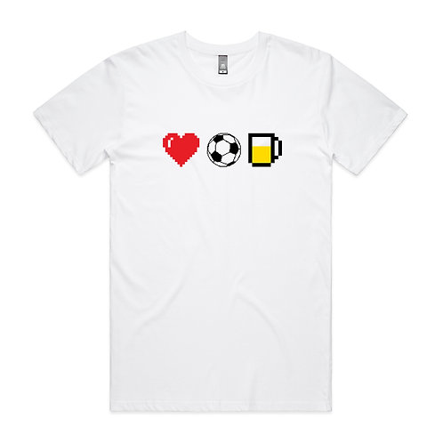 Love Football Beer T-shirt